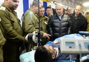 Israel prime minister Netanyahu consoles terrorists given refuge in a Zionist hospital. Over 2,000 terrorists have received medical treatment from Israel before being sent back into Syria | File photo