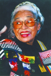 Rosa Parks in Halifax in August 1998 at the annual Africville Reunion in Seaview Park   Paul Adams (Click to enlarge)