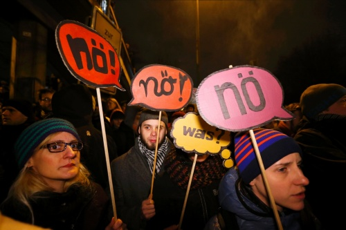 Protesters in Cologne stopped a march by Pegida | Wolfgang Rattay/Reuters