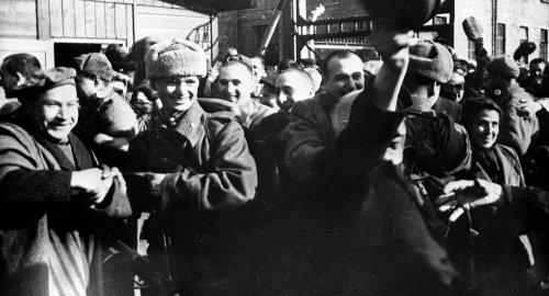 Auschwitz liberation |sputnik:Fishman