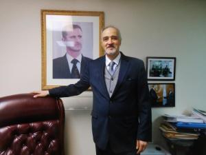 Dr. Bashar al-Ja'afari, a veteran diplomat and Syrian Arab Republic Ambassador and Permanent Representative to the United Nations. Al-Akhbar English/Eva Bartlett