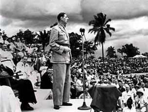 General de Gaulle at the Brazzaville conference