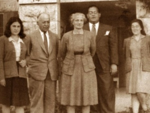 The Sakakini family in their Jerusalem Home. Khalil is second on the left