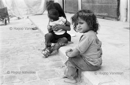 Internally Displaced children living on the front line. Old city Aleppo, Syria 2013