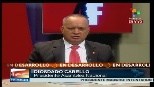 Diosdado Cabello providing coup details on February 12
