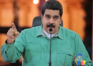 President Nicolás Maduro speaks in a February 14 televised address
