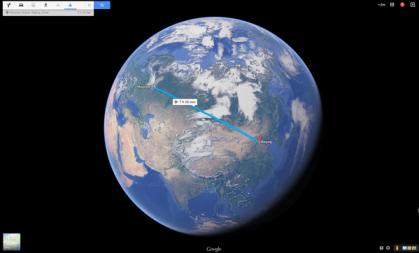 China-Moscow rail earth image