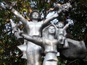 Monument in Da Nang, Vietnam celebrates Vietnamese peoples' victory in 1975.
