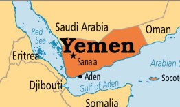This map shows the location of Sana'a, the capital of Yemen. Sanaa is the capital. U.S.-backed President Abed Rabbo Mansour Hadi has fled to the southern city of Aden.