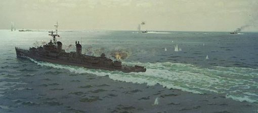 "An oil painting by Cmdr. E.J. Fitzgerald depicts the engagement between Maddox and three North Vietnamese motor torpedo boats on 2 August 1964. (Naval History and Heritage Command) In the 2003 documentary The Fog of War, the former Secretary of Defense Robert S. McNamara admitted that the August 2nd USS Maddox attack happened with no Defense Department response, but the August 4th Gulf of Tonkin attack never happened. The outcome of these two incidents was the passage by Congress of the Gulf of Tonkin Resolution, which granted President Lyndon B. Johnson the authority to assist any Southeast Asian country whose government was considered to be jeopardized by ""communist aggression"". The resolution served as Johnson's legal justification for deploying US conventional forces and the commencement of open warfare against North Vietnam."