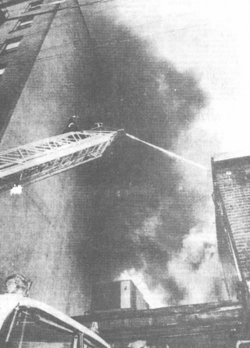 Arson attack  on BC headquarters of CPC(M-L), August 12, 1983.