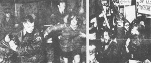 Police attack demonstration led by CPC(M-L) activists outside the Royal York Hotel in Toronto, on March 3, 1971. The demonstration was in support of the Quebec people and againstthe attacks launched on them by Prime Minister Pierre Trudeau.