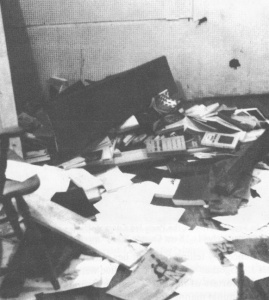 Aftermath of a police raid on a CPC(M-L) research institute in 1973