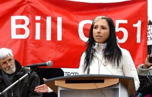 Prof. Pam Palmater speaks at Toronto Day of Action against Bill C-51, March 14, 2015 | OFL