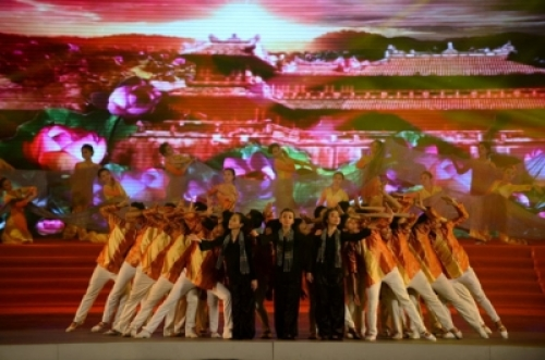 Artistic performance at the Ho Chi Minh City video conference