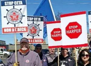 Seafarers protests in St. Catharines on April 1