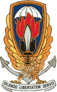 GladioEmblem of %22Gladio%22, Italian branch of the NATO %22stay-behind%22 paramilitary organizations. The motto means %22In silence I preserve freedom%22.