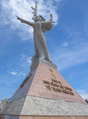 Victory monument in Xuan Loc, Vietnam