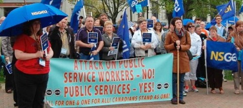 Halifax postal workers rally, May 27, 2011