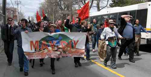 May Day march in Halifax (Click to enlarge)