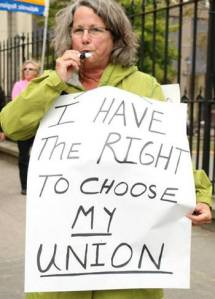 Health care workers demonstrate daily at Nova Scotia legislature in Halifax against anti-labour Bill 1, Health Authorities Act, September 29, to October 3, 2014.