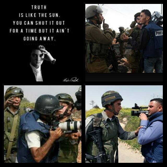 Palestinian journalist.Photo from Qamar Ahmad.1