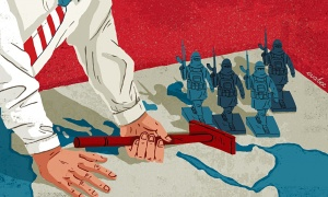 US chessbaord in Middle East.Eva-Bee-illustration