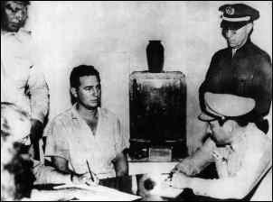 Fidel Castro in prison after the attack on the Moncada barracks