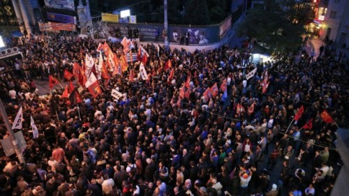 Thousands of demonstrators gather during a rally to protest against a fascist bombing of an anti-war rally in Ankara earlier, Saturday, Oct. 10, 2015. Twin bombs killed 95 people and injured 248; 48 of the wounded were in serious condition — and a doctor's group said many of them had burns.| AP Photo/Lefteris Pitarakis