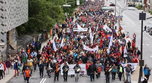 """Walk for Reconciliation"" in Ottawa, May 31, 2015 began the final gathering of the Truth and Reconciliation Commission 
