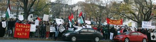 Halifax says NO! to war outside Halifax International Security Forum, November 17, 2012 | Halifax Media Coop