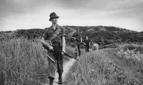 Scot Guards in1950s Malaya | Getty Images / Haywood Magee