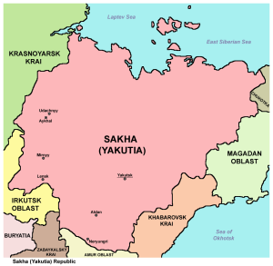 Map of Sakha (Yakutia) Republic