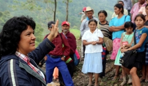 Berta Cáceres in Intibuca, Honduras, January 2015 | T. Russo