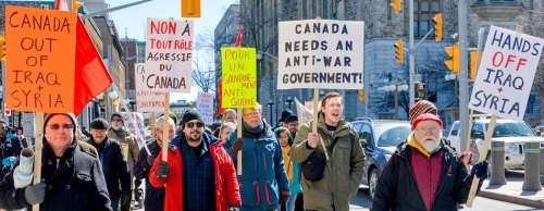 Demonstration in Ottawa, March 19, 2016 marked 13th anniversary of U.S. invasion of Iraq.