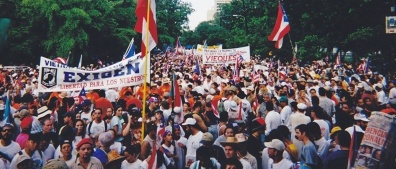 Mass rally for Puerto Rican political prisoners, August 1999