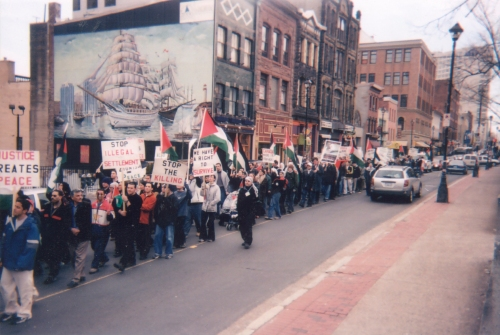 Demonstration on Palestinian Land Day, 30 March 2002, Halifax, NS