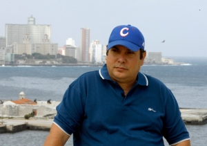 "Raul Capote, aka agent Daniel, during the filming of ""Reasons of Cuba"", documentary series broadcast on Cuban television in April 2011 