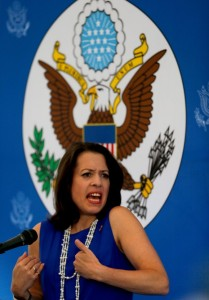 Kelly Keiderling Franz, the US charge d'affaires in Caracas expelled by the government of Venezuela, previously recruited CIA double agent, the Cuban Raul Capote | AP