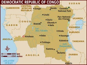 map.democratic republic of congo