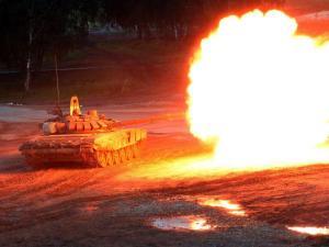 A Russian T-90 tank