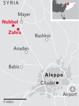 syria-map-Nubul and Zahra