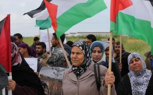 Palestinians celebrate Land Day in the Gaza Strip.