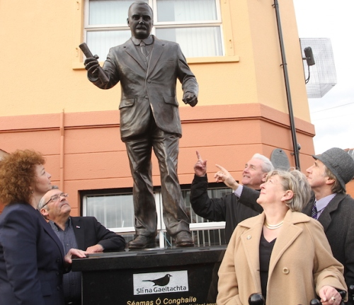 New James Connolly statue, Falls Road, Belfast