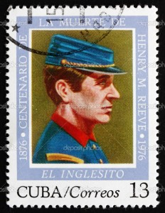 A Cuban stamp honouring El Inglesito, Henry M. Reeve on the centenary of his death 1976
