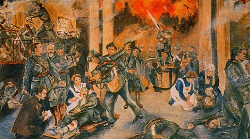 Painting 'Birth of the Irish Republic'