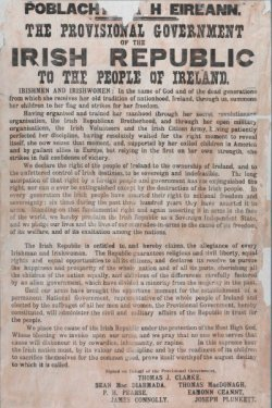Proclamation of the Irish Republic, April 24, 1916