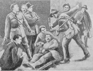 Soviet painting depicting an injured James Connolly during the Irish Rising