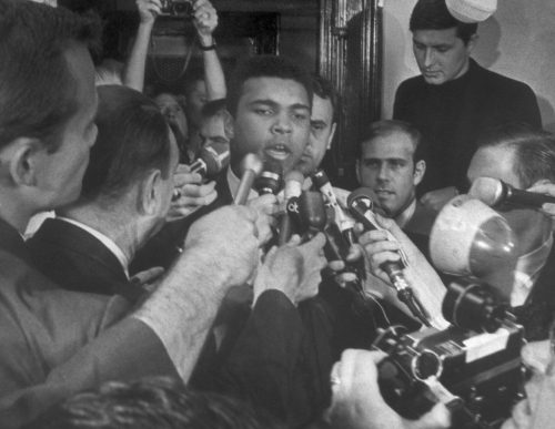 April 29, 1967 press conference where Ali announced that he would not take part in U.S. aggression in Vietnam | AFP