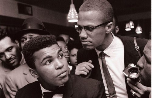 Muhammad Ali with Malcolm X. Ali would later state that his break with Malcolm was one of his greatest regrets.